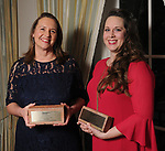 "Winners Anna Mod and Delaney Harris-Finch at Preservation Houston's ""The Cornerstone Dinner""  presenting the 2018 Good Brick Awards at the River Oaks Country Club Friday March 02,2018. (Dave Rossman Photo)"