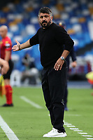 Gennaro Gattuso of SSC Napoli reacts during the Serie A football match between SSC Napoli and Genoa CFC at San Paolo stadium in Napoli (Italy), September 27th, 2020. Photo Cesare Purini / Insidefoto