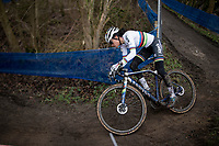 cx world champion Ceylin del Carmen Alvarado (NED/Alpecin-Fenix) quickly controls the race from the front<br /> <br /> 2021 Flandriencross Hamme (BEL)<br /> women's race<br /> <br /> ©kramon