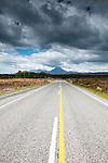 Highway to Mt Ngauruhoe, New Zealand
