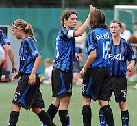 Dames Club Brugge : vreugde na een doelpunt.foto VDB / BART VANDENBROUCKE