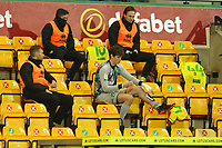 29th December 2020; Carrow Road, Norwich, Norfolk, England, English Football League Championship Football, Norwich versus Queens Park Rangers; Daniel Barden of Norwich City prepares to come on for the injured Michael McGovern