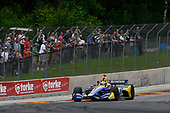 Alexander Rossi, Andretti Autosport Honda salutes the crowd after the win