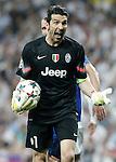 Juventus' Gianluigi Buffon during Champions League 2014/2015 Semi-finals 2nd leg match.May 13,2015. (ALTERPHOTOS/Acero)