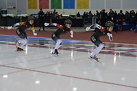 SPEEDSKATING: 13-02-2020, Utah Olympic Oval, ISU World Single Distances Speed Skating Championship, Team Sprint Ladies, Team CHN, ©Martin de Jong