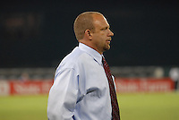 DC United head coach Tom Soehn during the game. Monarcas Morelia tied DC United 1-1 in the SuperLiga opening match in group B, at RFK Stadium in Washington DC, Wednesday July 25, 2007