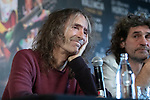 MADRID, SPAIN - DECEMBER 19: Music Band 'Extremoduro', Robe Iniesta and Inaki Anton Announce Their Break on December 19, 2019 in Madrid, Spain.(ALTERPHOTOS/David Jar)