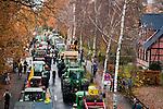 © Hughes Léglise-Bataille/Wostok Press.Allemagne, Dannenberg.06.11.2010.Plusieurs dizaines de milliers de personnes et plus de 600 tracteurs ont manifeste dans la ville de Dannenberg (Allemagne) le 06/11/2010 contre le transport de dechets nucleaires CASTOR, dont l'arrivee est prevue dans la region le lendemain. Les containers arrivent par train special depuis La Haye en France et sont transferes sur des camions a Dannenberg avant leur enfouissement dans une ancienne mine de sel dans la ville voisine de Gorleben...Tens of thousands of people and more than 600 tractors demonstrated in the city of Dannenberg (Germany) on November 06, 2010 against the nuclear waste transportation CASTOR, which arrival in the region is planned for the following day. The containers arrive by special train from The Hague in France and are unloaded onto trucks in Dannenberg before their storing in an former salt mine in the nearby city of Gorleben.
