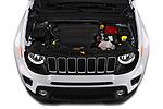 Car Stock 2019 JEEP Renegade Latitude 5 Door SUV Engine  high angle detail view