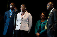 Press conference by the family of Trayvon Martin and Doreen Lawrence give a press conference in london. 11-5-12  Sybrina Fulton addresses the media.