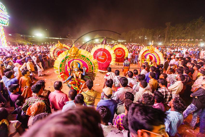 India,Kerala, Thrissur, Utharalikavu, Elephant Pooram