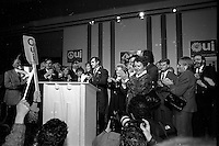 Montreal Qc CANADA - Oct 29 1995 File Photo - Lucien Bouchard and the OUI camp during the 1995 referendum