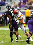 TCU Horned Frogs quarterback Trevone Boykin (2) and Iowa State Cyclones defensive lineman Brandon Jensen (93) in action during the game between the Iowa State Cyclones and the TCU Horned Frogs  at the Amon G. Carter Stadium in Fort Worth, Texas. Iowa State defeats TCU 37 to 23..
