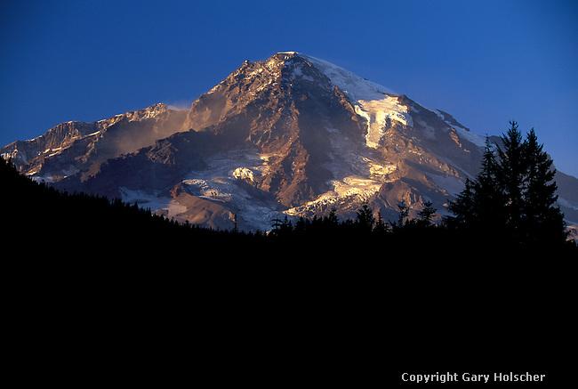 Mt. Rainier from Longmire. MRNP. WA