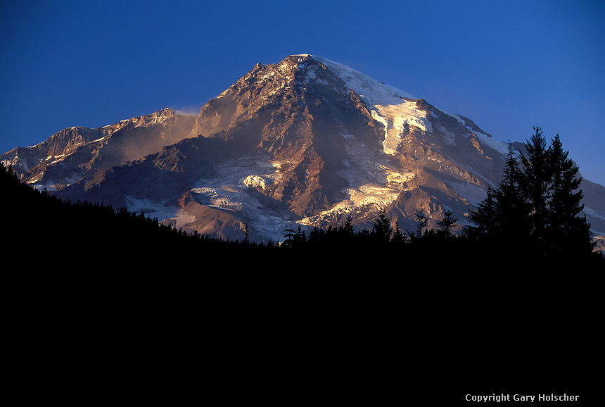 Mt. Rainier from Longmire. MRNP. WA