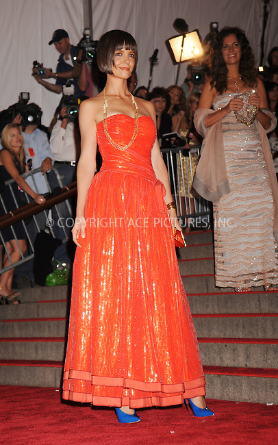 WWW.ACEPIXS.COM . . . . . ....May 5 2008, New York City....Katie Holmes arriving at the Metropolitan Museum of Art Costume Institute Gala, Superheroes: Fashion and Fantasy, held at the Metropolitan Museum of Art on the Upper East Side of Manhattan.....Please byline: KRISTIN CALLAHAN - ACEPIXS.COM.. . . . . . ..Ace Pictures, Inc:  ..(646) 769 0430..e-mail: info@acepixs.com..web: http://www.acepixs.com
