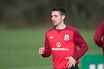 Wales football squad training session at the Vale in Cardiff  ahead of Austria game on 6th Feb 2013 :