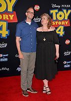 "LOS ANGELES, USA. June 12, 2019: Pete Docter & Amanda Docter at the world premiere of ""Toy Story 4"" at the El Capitan Theatre.<br /> Picture: Paul Smith/Featureflash"