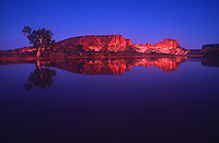 The flooded clay pan in front of Rainbow Valley in Central Australia creating a rare reflection. A rare occurrence in the arid parts of Central Australia and this happen only after a very heavy rain.