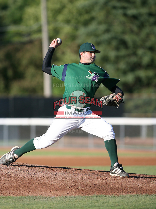 Anthony Snow of the Jamestown Jammers, Class-A affiliate of the Florida Marlins, during New York-Penn League baseball action.  Photo by Mike Janes/Four Seam Images