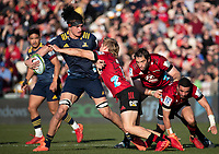 Pari Pari Parkinson in action during the 2020 Super Rugby match between the Crusaders and Highlanders at Orangetheory Stadium in Christchurch, New Zealand on Saturday, 9 August 2020. Photo: Joe Johnson / lintottphoto.co.nz