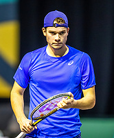 Rotterdam, The Netherlands, 27 Februari 2021, ABNAMRO World Tennis Tournament, Ahoy, Qualyfying match: Ryan Nijboer (NED)<br /> Photo: www.tennisimages.com/henkkoster