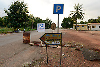 TOGO, Tohoun, border station Togo and Benin, viewed from Benin side