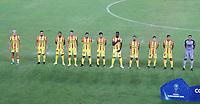 PEREIRA - COLOMBIA, 29-04-2021: Jugadores de Aragua F. C. (VEN) antes de partido entre La Equidad (COL) y Aragua F. C. (VEN) por la Copa CONMEBOL Sudamericana 2021 en el Estadio Hernan Ramirez Villegas de la ciudad de Pereira. / Players of Aragua F. C. (VEN) prior a match between La Equidad (COL) and Aragua F. C. (VEN) for the CONMEBOL Sudamericana Cup 2021 at the Hernan Ramirez Villegas Stadium, in Pereira city.  Photo: VizzorImage / Pablo Bohorquez / Cont.