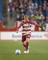 FC Dallas midfielder/defender Michael Dello-Russo (2). The New England Revolution defeated FC Dallas, 2-1, at Gillette Stadium on April 4, 2009. Photo by Andrew Katsampes /isiphotos.com