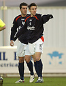 26/12/2004  Copyright Pic : James Stewart.File Name : jspa02_falkirk_v_airdrie.DAYRLL DUFFY CELEBRATES AFTER SCORING FALKIRK'S FIRST....Payments to :.James Stewart Photo Agency 19 Carronlea Drive, Falkirk. FK2 8DN      Vat Reg No. 607 6932 25.Office     : +44 (0)1324 570906     .Mobile   : +44 (0)7721 416997.Fax         : +44 (0)1324 570906.E-mail  :  jim@jspa.co.uk.If you require further information then contact Jim Stewart on any of the numbers above.........