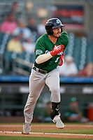 Daytona Tortugas third baseman Jonathan India (6) runs to first base during a Florida State League game against the Palm Beach Cardinals on April 11, 2019 at Roger Dean Stadium in Jupiter, Florida.  Palm Beach defeated Daytona 6-0.  (Mike Janes/Four Seam Images)