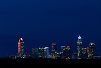 Skyline photography of the Charlotte NC downtown skyline. Photo, taken from the south side of Charlotte, is part on a regularly updated collection of Charlotte skyline imagery.  <br /> <br /> Charlotte Photographer - PatrickSchneiderPhoto.com