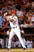 3 September 2005: John Patterson, starting pitcher for the Washington Nationals, went 2 for 3 at the plate during a game against the Philadelphia Phillies. The Nationals defeated the Phillies 5-4 at RFK Stadium in Washington, DC. <br />