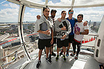 Rieko Ioane (L), Dylan Collier, Ambrose Curtis, Sam Dickson, Beaudein Waaka. London Eye. 13 May 2015. England. Photo: Marc Weakley