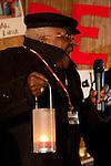 Desmond Tutu Leads a Copenhagen candlelight vigil at the Bella Center during COP 15. (Credit: Robert van Waarden/Avaaz.org)