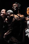 POULBWA (attention termites !)..Chorégraphie : DIAKOK Max..Compagnie : Boukousou..Plasticienne : Anastasia Procoudine Gorsky..Lumieres : Jean Pierre Nepost..Avec :..Ghislaine DECIMUS..Jessica DIAMANKA,..Marine LE CAM..Mariama DIEDHIOU..Max DIAKOK..Lieu : Theatre de l'epee de bois..Ville : La cartoucherie, Paris..le 12/04/2011..© Laurent Paillier / photosdedanse.com..All rights reserved