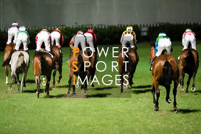 Jockeys riding their horses during Hong Kong Racing at Happy Valley Race Course on November 22, 2017 in Hong Kong, Hong Kong. Photo by Marcio Rodrigo Machado / Power Sport Images