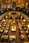 "Rio de  Janeiro, Brazil. View from above of the interior of the famous ""La Confeitaria"" Cafe Colombo."