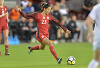 San Jose, CA - Sunday November 12, 2017: Christen Press during an International friendly match between the Women's National teams of the United States (USA) and Canada (CAN) at Avaya Stadium.