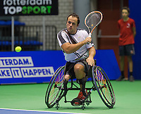 Rotterdam, Netherlands, December 20, 2015,  Topsport Centrum, Lotto NK Tennis, Final mens wheelchair Tom Egberink (NED)<br /> Photo: Tennisimages/Henk Koster