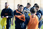 St Johnstone Training….26.02.19   <br />Scott Tanser pictured talking with Matty Kennedy during training this morning at McDiarmid Park ahead of tomorrow's game against Hibs.<br />Picture by Graeme Hart.<br />Copyright Perthshire Picture Agency<br />Tel: 01738 623350  Mobile: 07990 594431