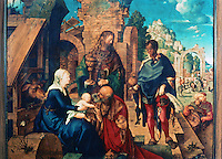 Paintings:  Albrecht Durer--The Adoration of the Magi.  Galleria Uffizi, Florence.  Reference only.