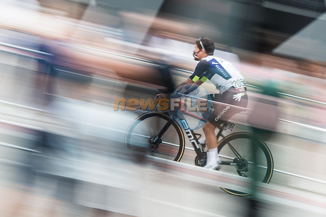 Sergio Luis Henao (COL) Qhubeka NextHash arrives at sign on before the start of Stage 9 of La Vuelta d'Espana 2021, running 188km from Puerto Lumbreras to Alto de Velefique, Spain.    <br /> Picture: Unipublic/Charly Lopez | Cyclefile<br /> <br /> All photos usage must carry mandatory copyright credit (© Cyclefile | Charly Lopez/Unipuplic)