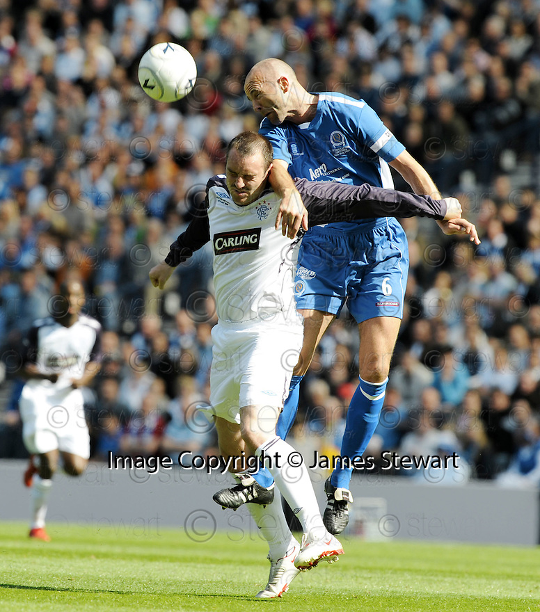 24/05/2008   Copyright Pic: James Stewart.File Name : sct_jspa30_qots_v_rangers.JIM THOMSON HEADS CLEAR FROM KRIS BOYD.James Stewart Photo Agency 19 Carronlea Drive, Falkirk. FK2 8DN      Vat Reg No. 607 6932 25.Studio      : +44 (0)1324 611191 .Mobile      : +44 (0)7721 416997.E-mail  :  jim@jspa.co.uk.If you require further information then contact Jim Stewart on any of the numbers above........