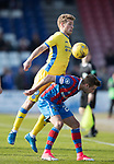 Inverness Caley v St Johnstone…08.04.17     SPFL    Tulloch Stadium<br />David Wotherspoon gets above Billy King<br />Picture by Graeme Hart.<br />Copyright Perthshire Picture Agency<br />Tel: 01738 623350  Mobile: 07990 594431