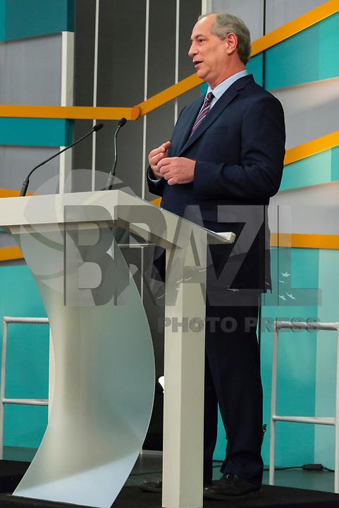 SÃO PAULO, SP, 09.09.2018 - ELEIÇÕES-2018 - O candidato Ciro Gomes (PDT) à presidência durante o debate entre candidatos à presidência do Brasil na GAZETA (Fundação Cásper Líbero), neste domingo, 09, em São Paulo. (Foto: Anderson Lira/Brazil Photo Press)