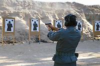 - scuola scorte della Polizia di Stato ad Abbasanta (Oristano), poligono di tiro esterno....- State Police escort school at Abbasanta (Oristano), outdoor shooting range