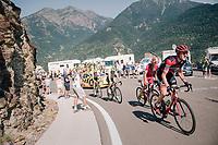 Tejay van Garderen (USA/BMC) up the final climb of the day (in Spain!): the Col du Portillon (Cat1/1292m)<br /> <br /> Stage 16: Carcassonne > Bagnères-de-Luchon (218km)<br /> <br /> 105th Tour de France 2018<br /> ©kramon