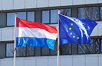 Nederland - Den Haag - Februari 2020. Vlaggen - Nederland en Europa.  Foto Berlinda van Dam / Hollandse Hoogte