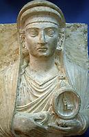 SIRIA - sito di Palmira(Tadmor)  Museo Antichità busto funerario